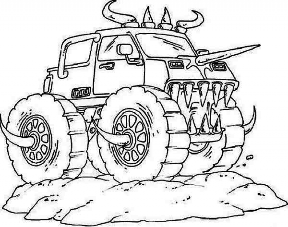 monster trucks coloring pages get this bigfoot monster truck coloring page 73610 coloring pages trucks monster