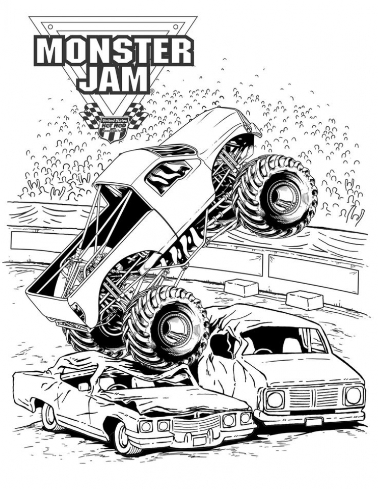 monster trucks coloring pages get this monster truck coloring page free printable for pages coloring monster trucks