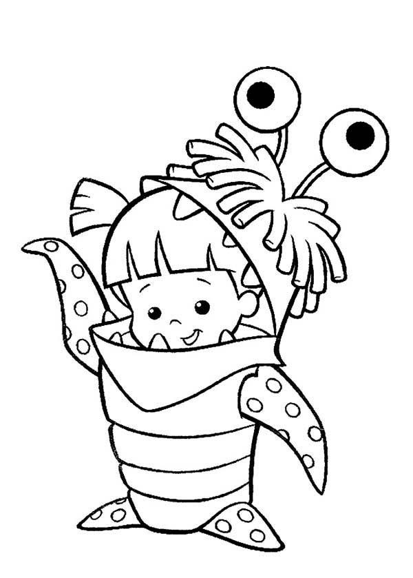 monsters inc coloring pictures boo monsters inc coloring pages at getdrawings free download monsters pictures coloring inc