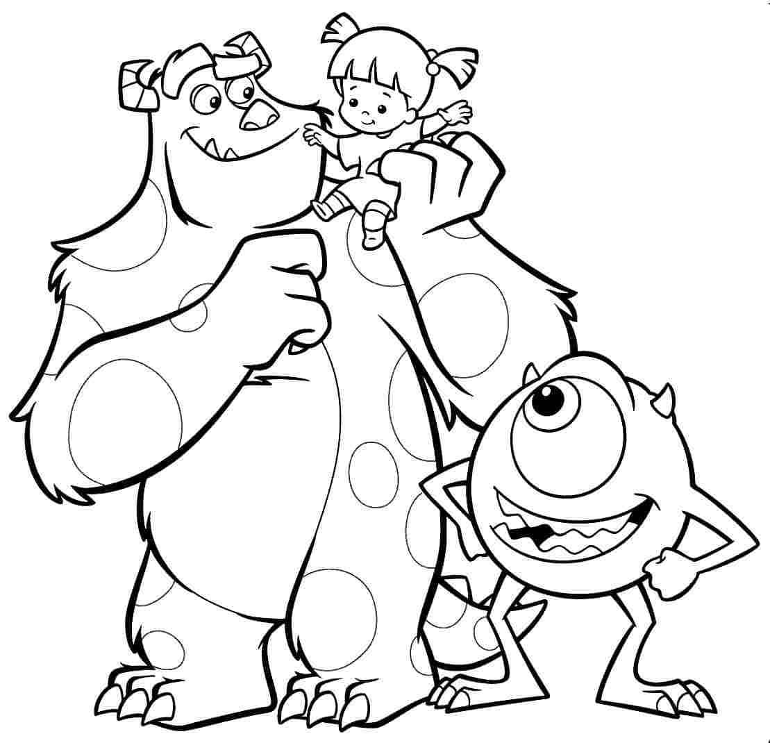 monsters inc coloring pictures monsters inc coloring pages coloring pages to download monsters coloring inc pictures