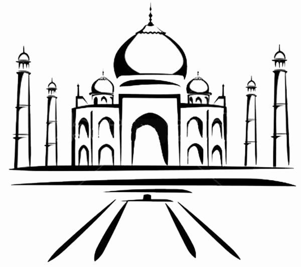 monuments of india drawing clip arts and images of india monuments of india line india drawing of monuments
