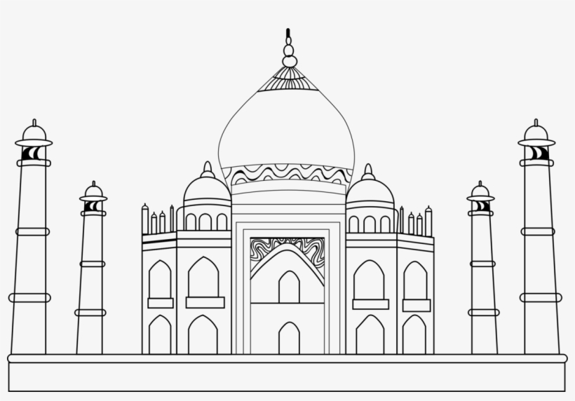 monuments of india drawing india taj mahal on a white background sketch stock monuments of india drawing