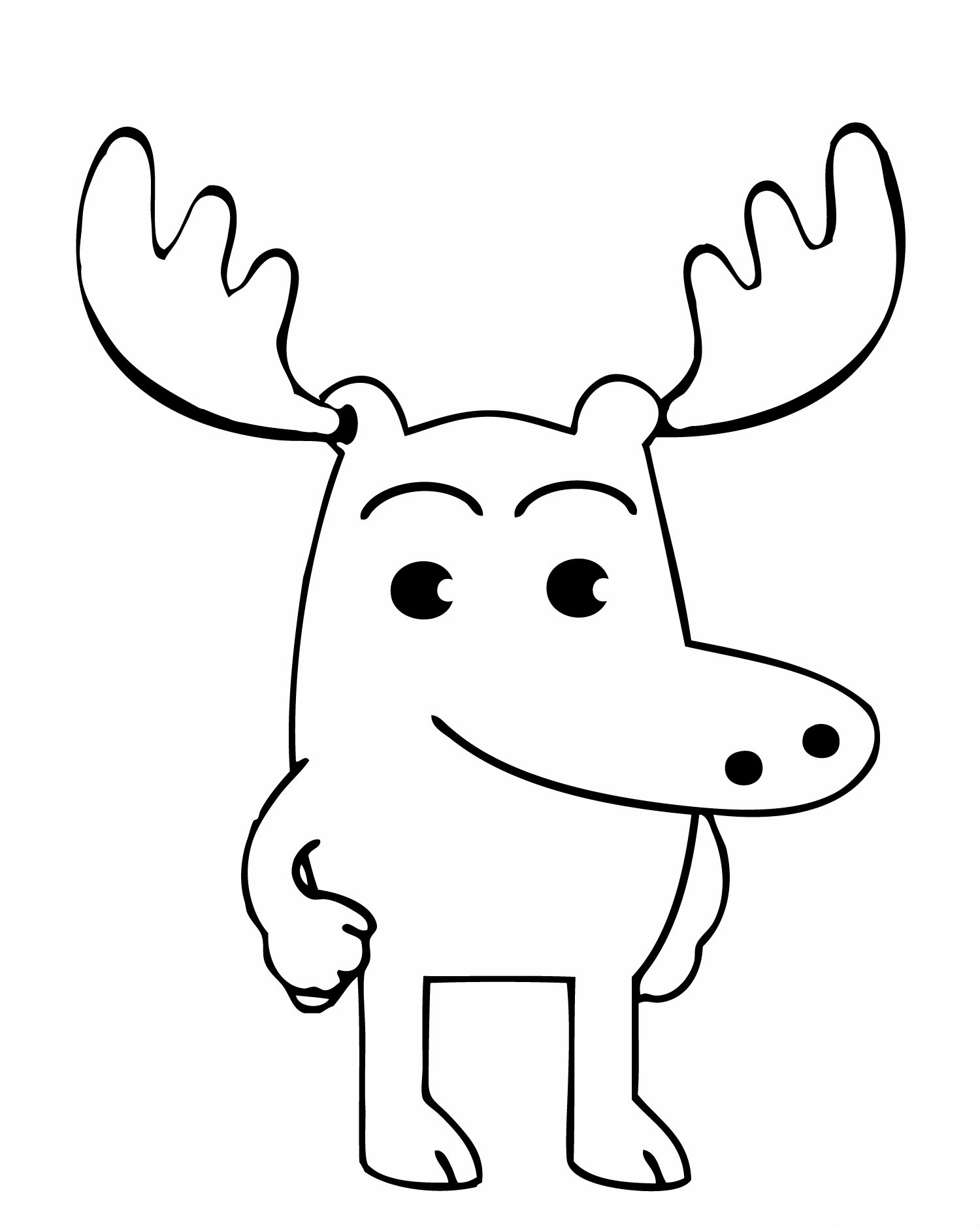 moose coloring cartoon moose coloring pages coloring home moose coloring