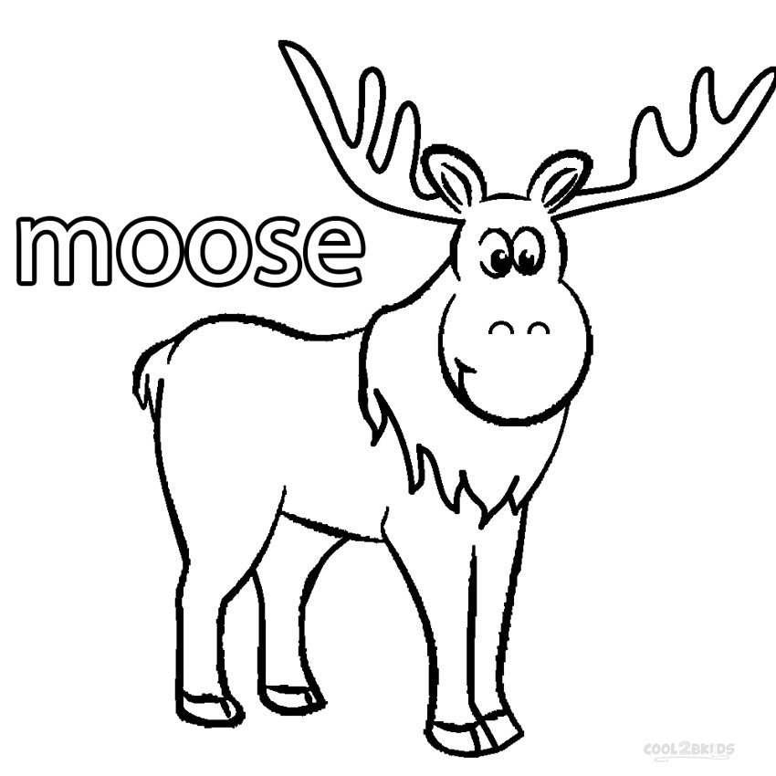 moose coloring page cute moose coloring page download print online coloring page moose