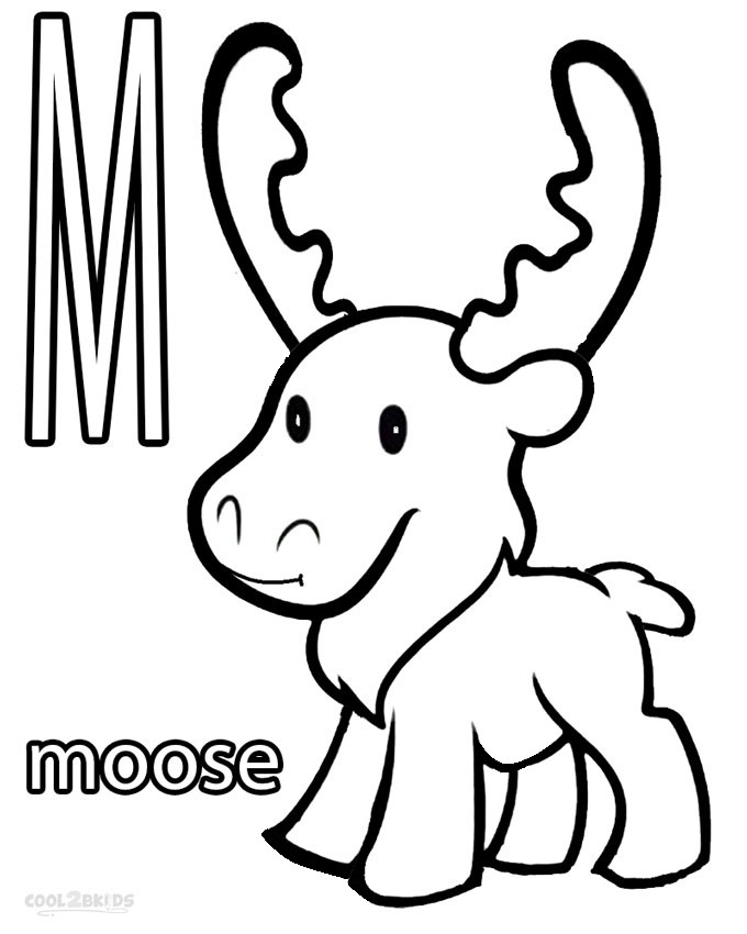 moose coloring page printable moose coloring pages for kids cool2bkids moose page coloring