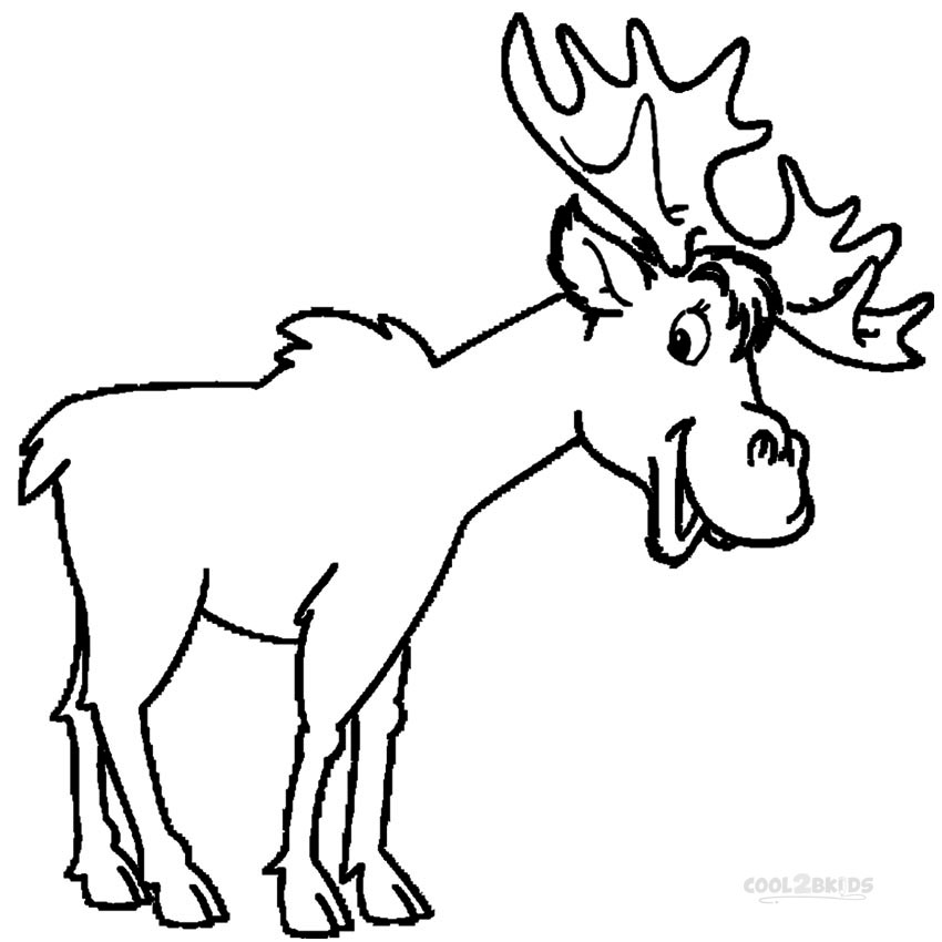 moose coloring pages printable moose coloring pages for kids cool2bkids moose pages coloring