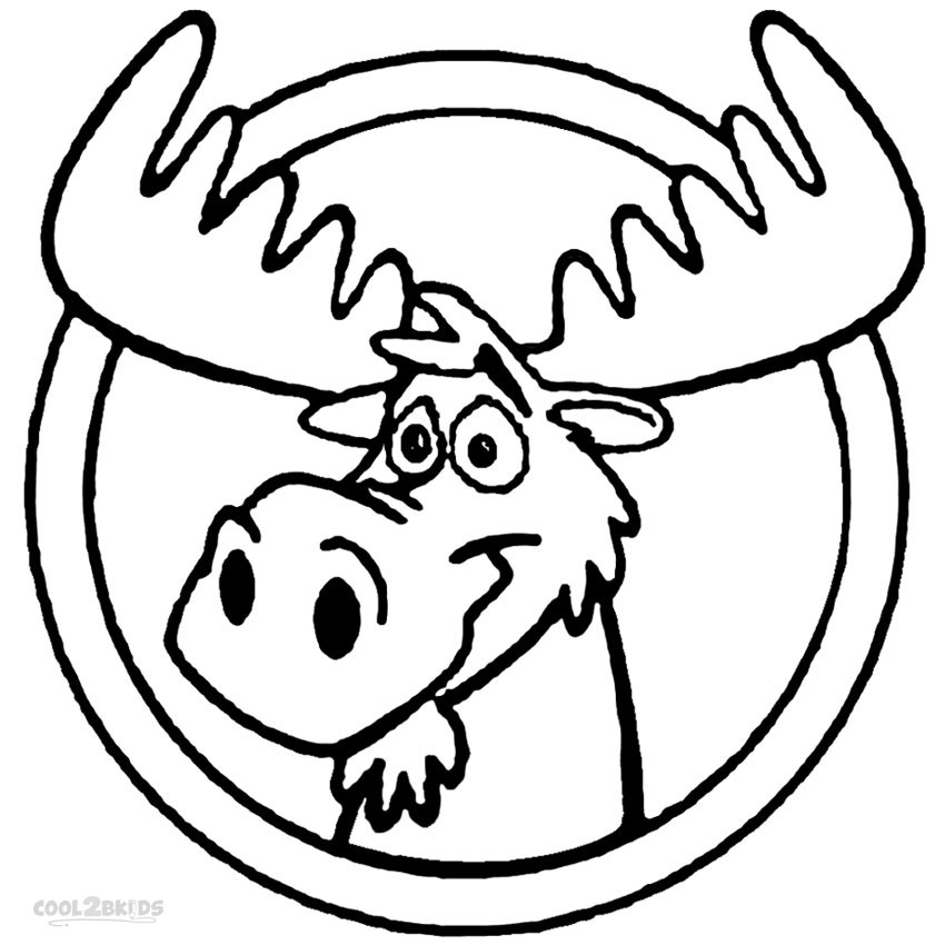moose coloring pages printable moose coloring pages for kids cool2bkids pages coloring moose