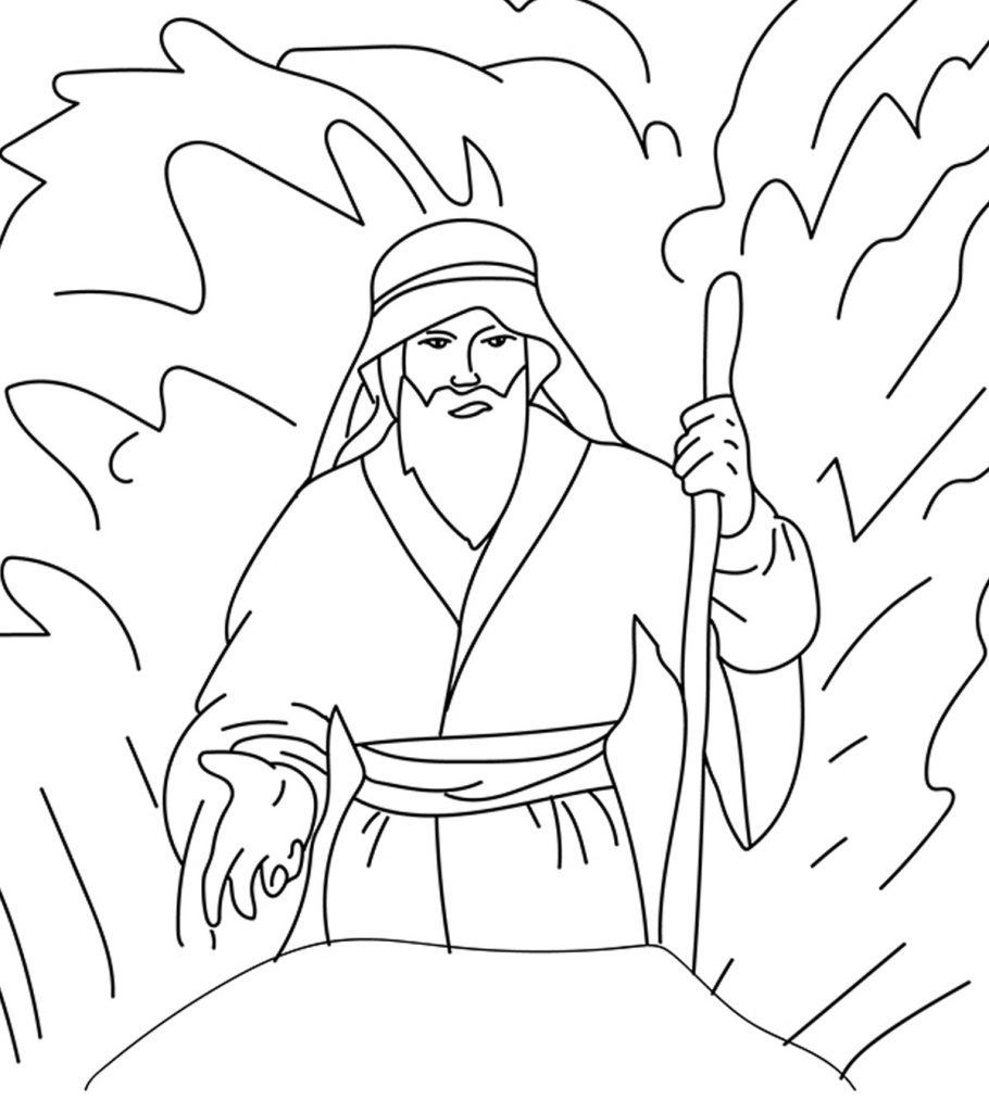 moses coloring pages moses and his people passed through red sea coloring page pages moses coloring
