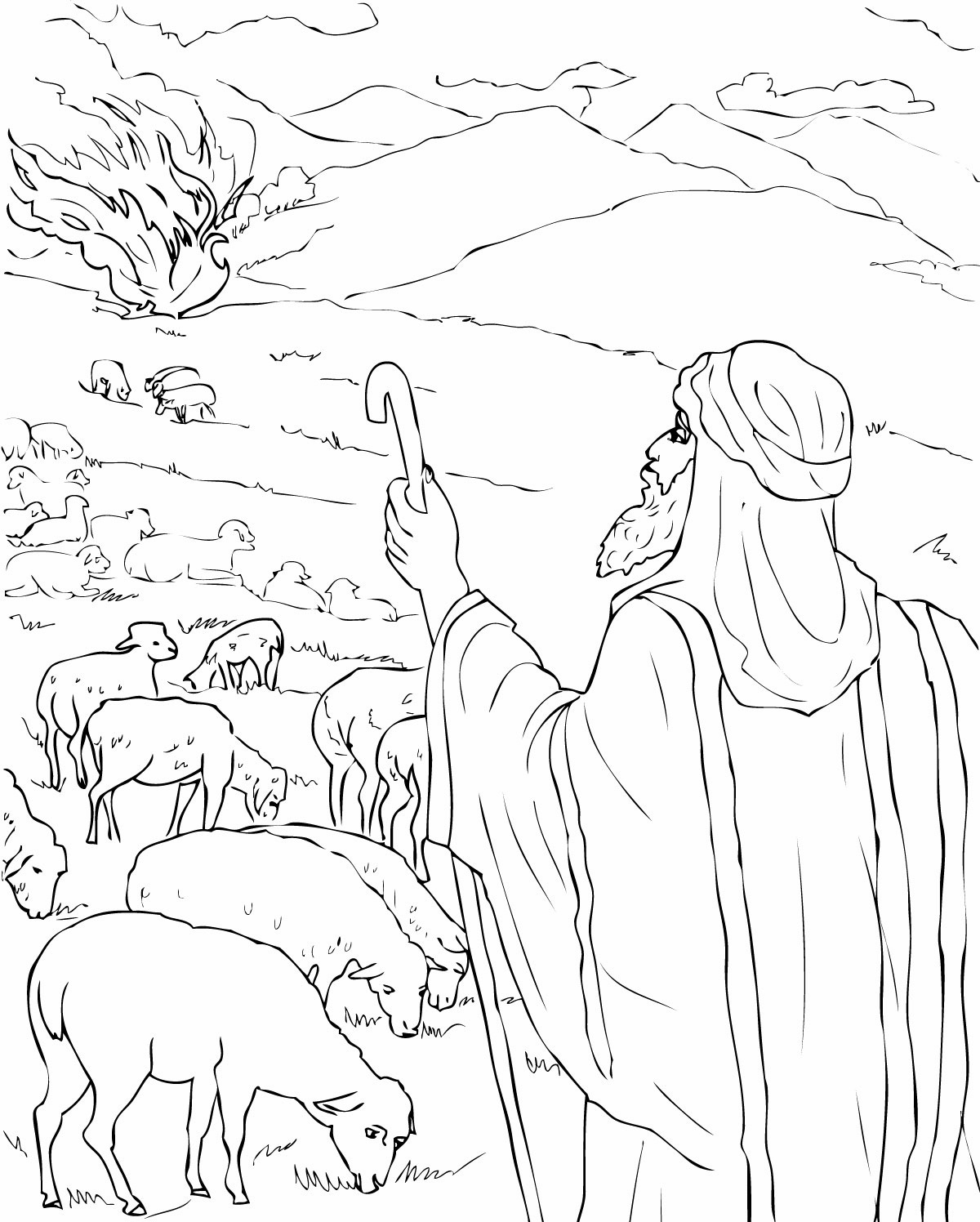 moses coloring pages moses coloring pages kidsuki coloring moses pages