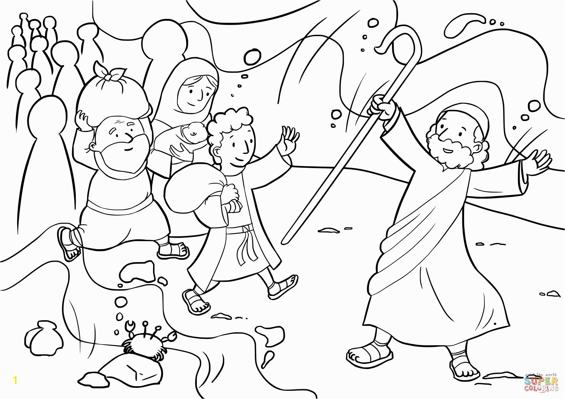moses red sea coloring page 32 moses parting the red sea coloring page sunday school red sea page moses coloring