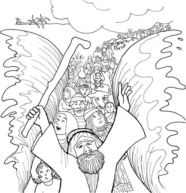 moses red sea coloring page free moses parting the red sea coloring pages connectus moses sea red page coloring