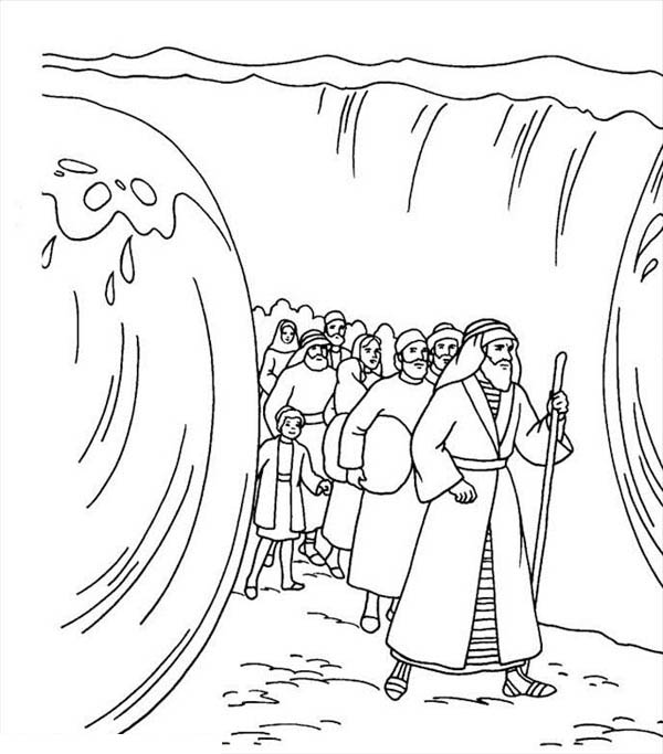 moses red sea coloring page moses and his people passed through red sea coloring page coloring red moses page sea