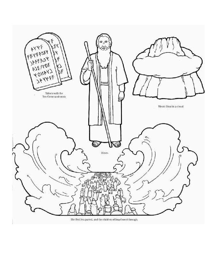 moses red sea coloring page moses and the red sea coloring page at getcoloringscom moses red sea coloring page