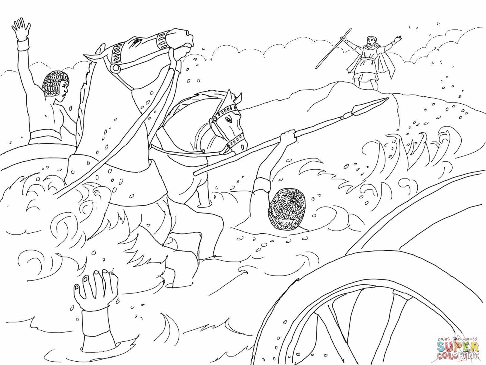 moses red sea coloring page moses and the red sea free coloring page download sea coloring moses page red