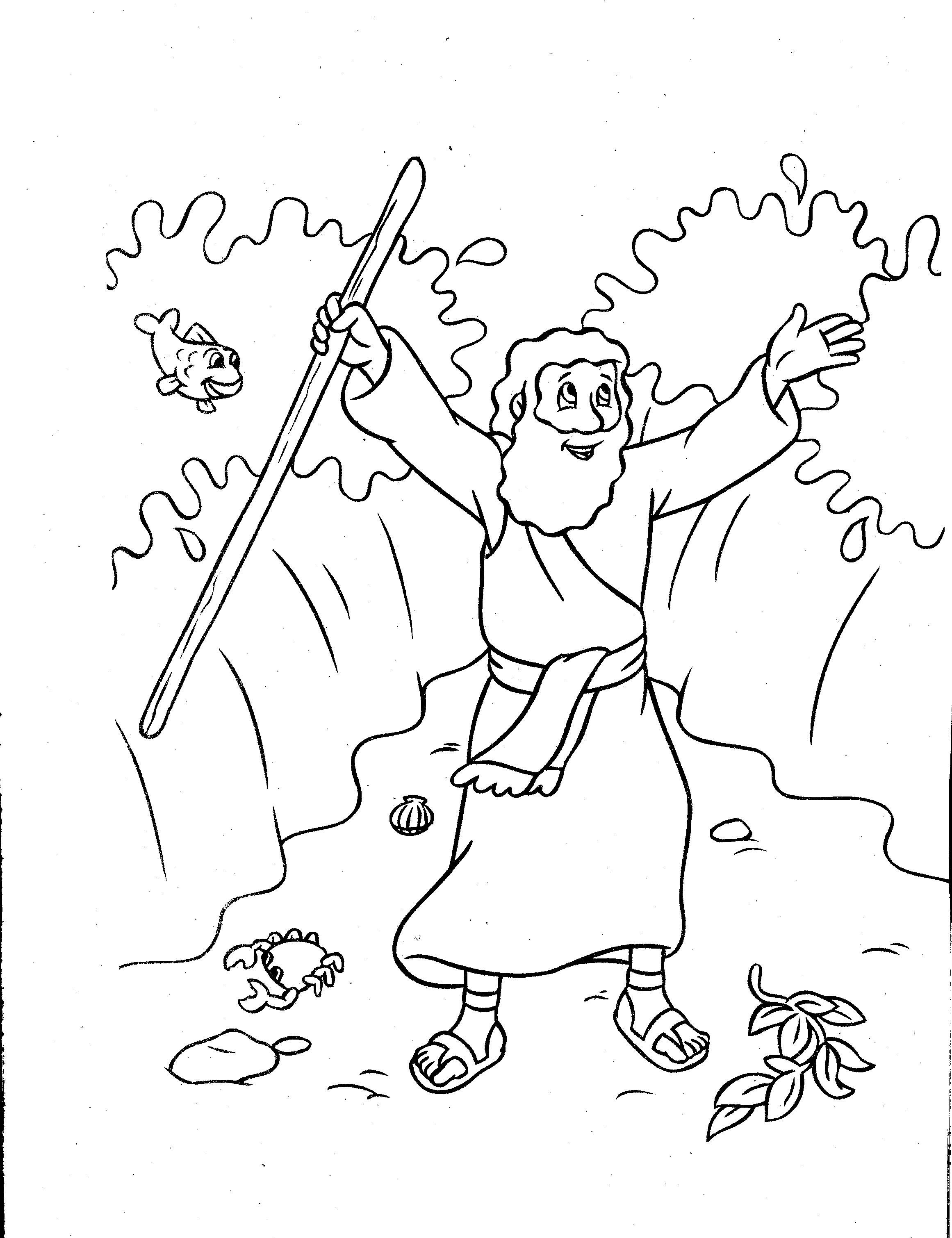 moses red sea coloring page moses bible story coloring page bible coloring pages coloring red page sea moses