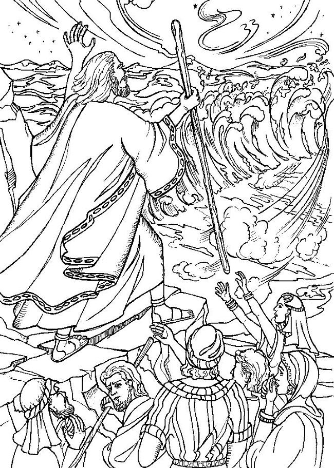 moses red sea coloring page moses parting the red sea coloring page coloring home red page coloring sea moses