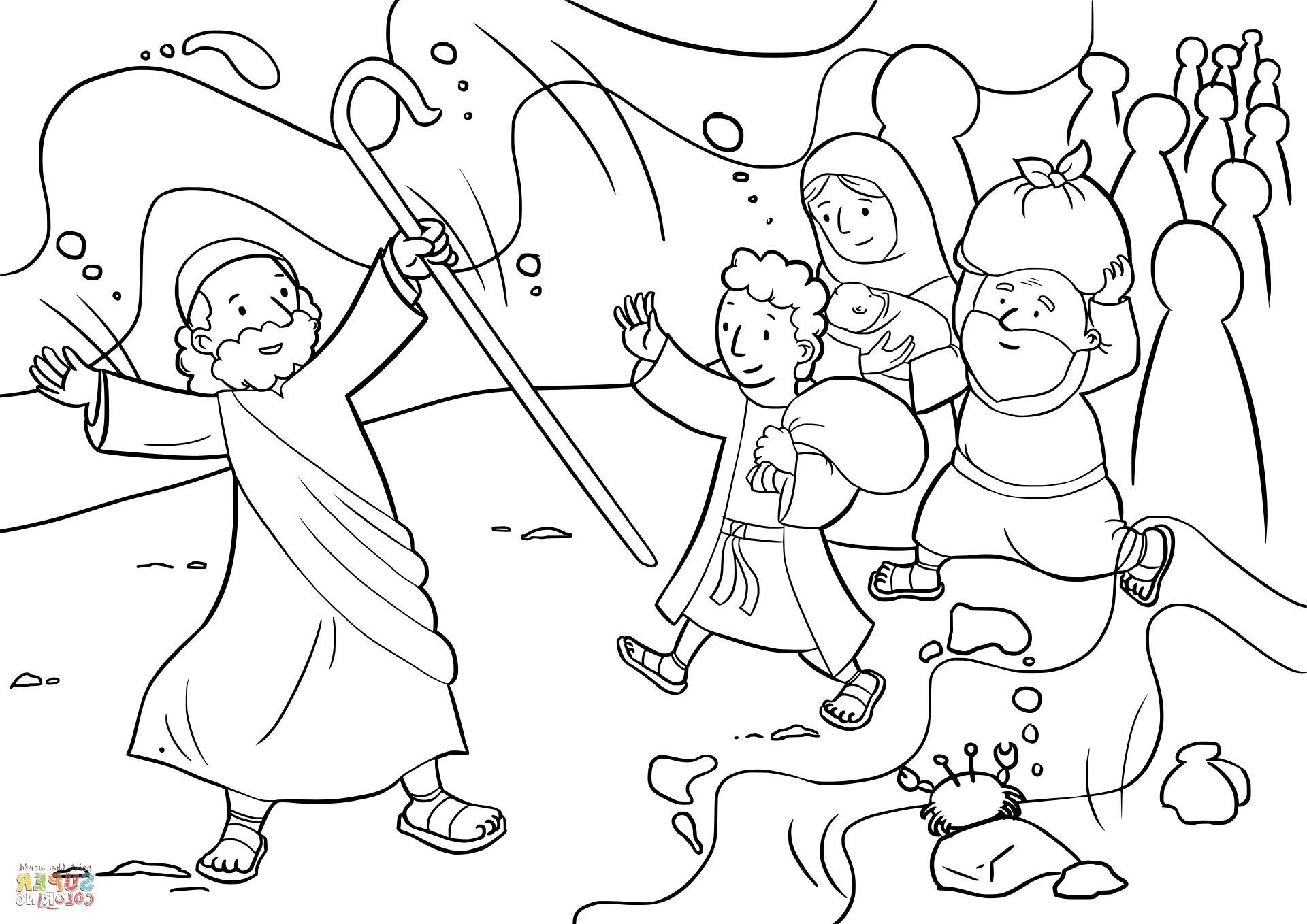 moses red sea coloring page moses parting the red sea coloring page sea page red moses coloring