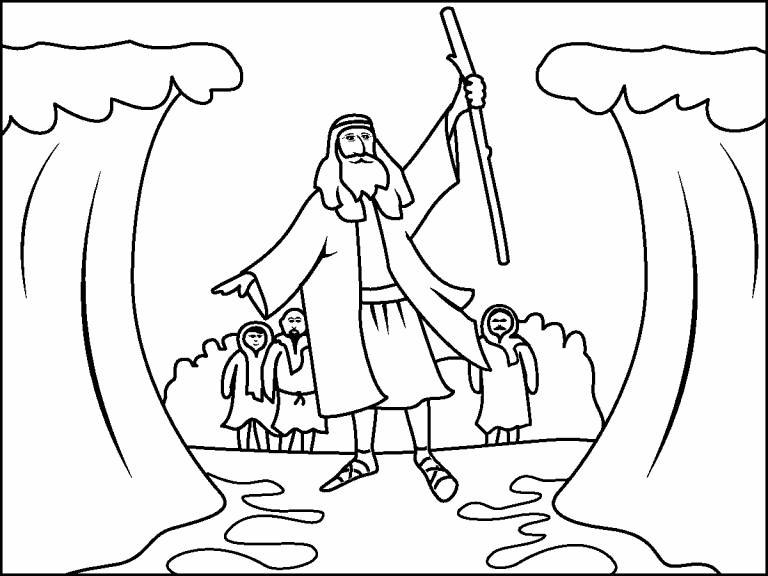 moses red sea coloring page moses parting the red sea parting the red sea adult red sea page moses coloring