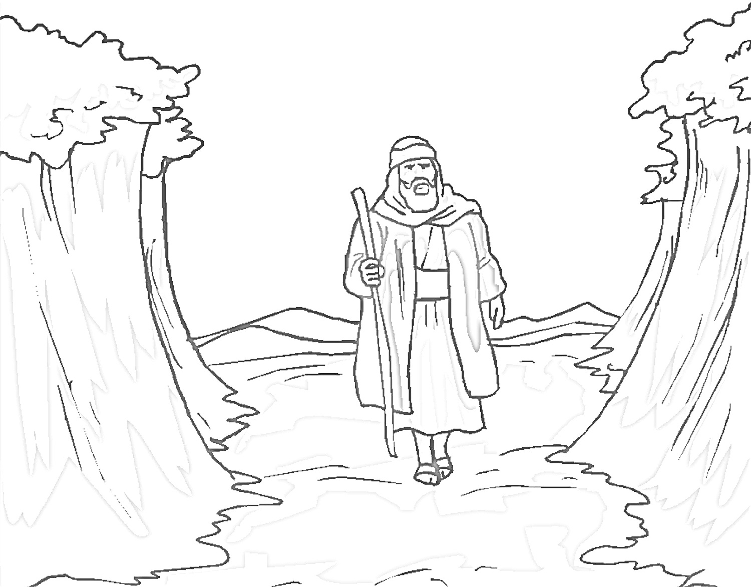 moses red sea coloring page moses red sea coloring page page moses sea coloring red