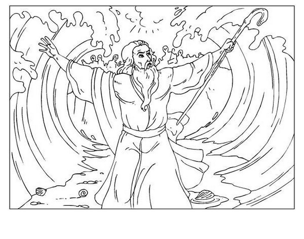 moses red sea coloring page parting the red sea free coloring pages coloring moses sea red page
