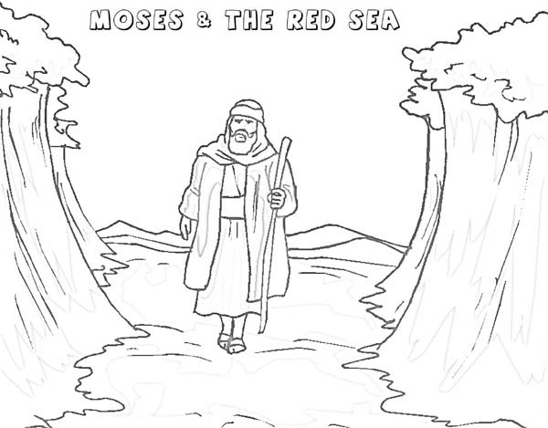 moses red sea coloring page printable coloring pages of moses parting the red sea sea moses page coloring red