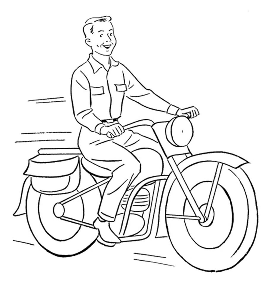 motorbike colouring motorcycle coloring pages free printable for kids motorbike colouring