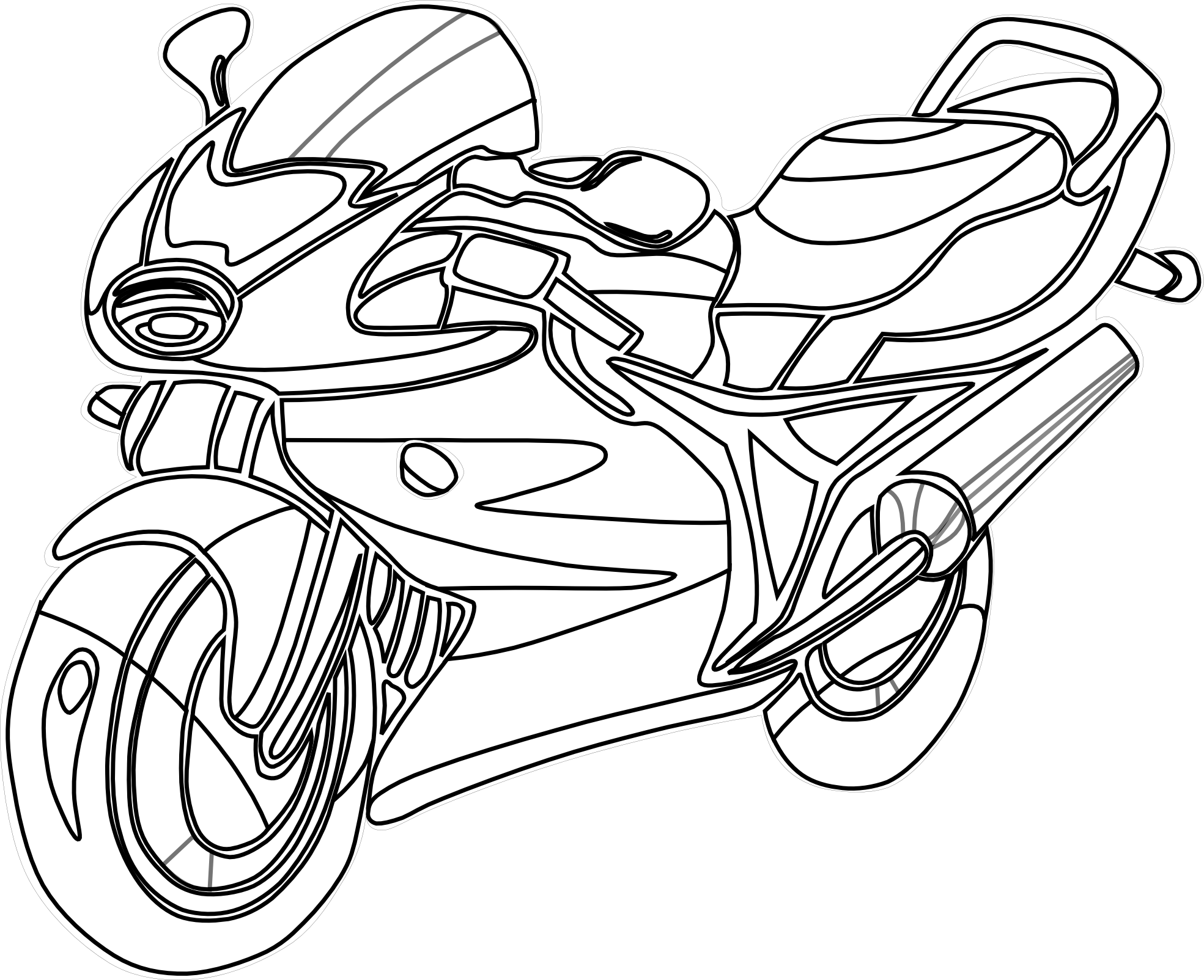 motorbike colouring motorcycle drawing for kids at getdrawings free download colouring motorbike