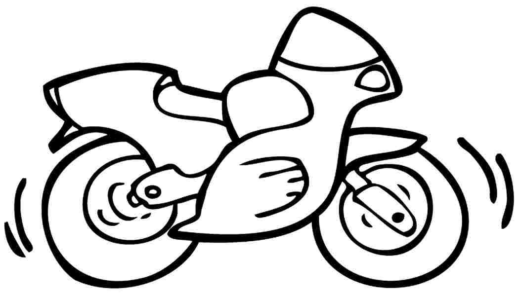 motorbike colouring motorcycle drawing simple at getdrawings free download motorbike colouring