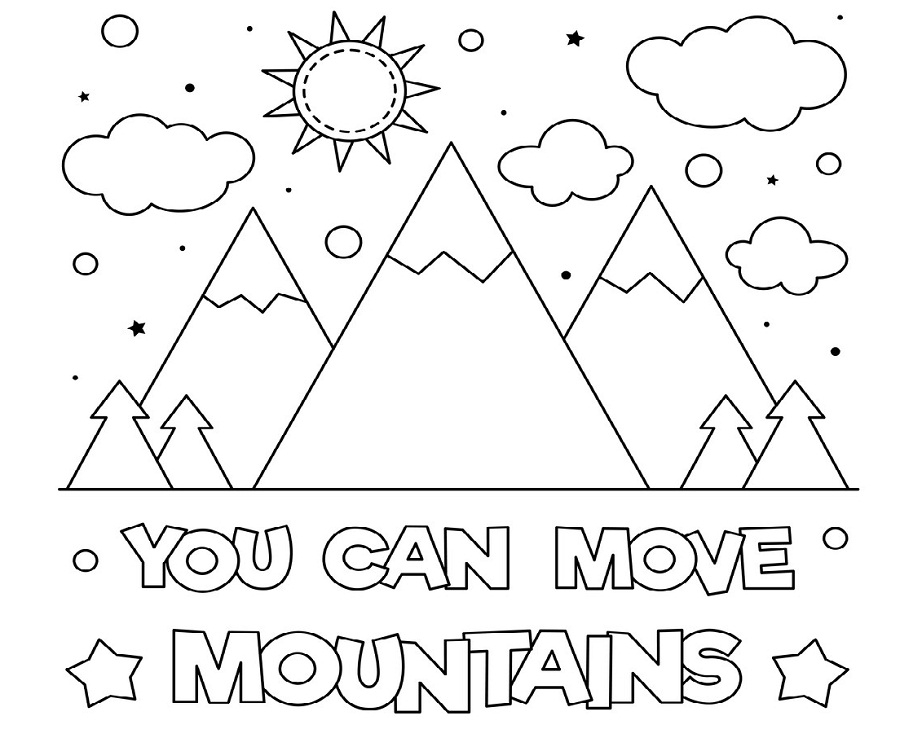 mountain coloring pages holidays to snowy mountain sunrise view coloring pages mountain pages coloring