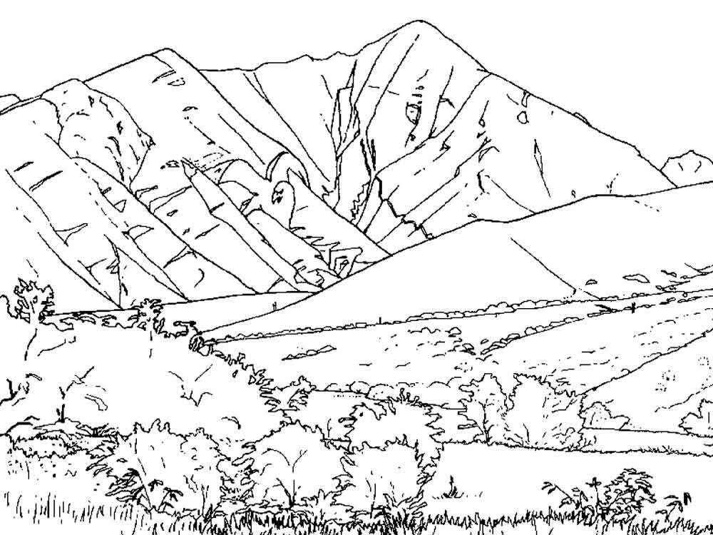 mountain coloring pages mountain coloring pages coloring pages to download and print coloring mountain pages