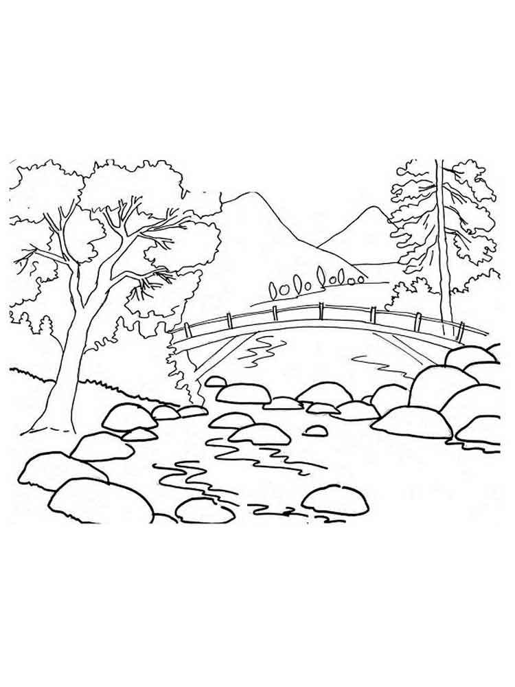 mountain pictures to color mountain coloring pages coloring pages to download and print mountain to pictures color