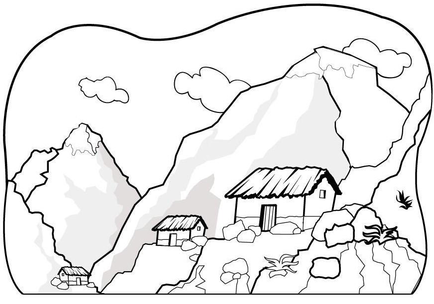 mountain pictures to color mountain coloring pages coloring pages to download and print to mountain pictures color