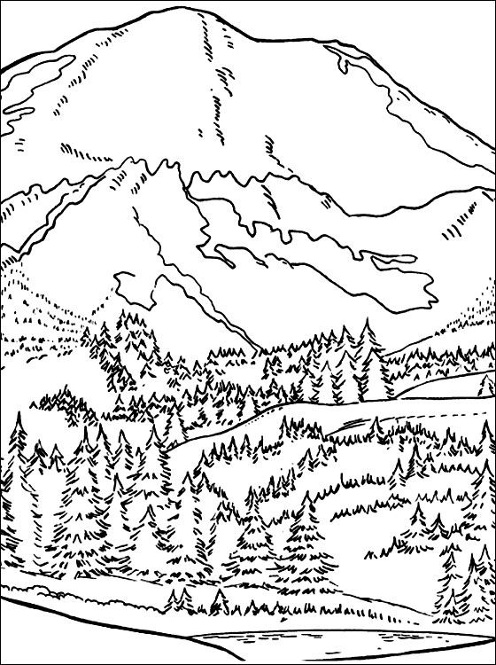 mountain pictures to color mountain coloring pages coloring pages to download and print to pictures mountain color