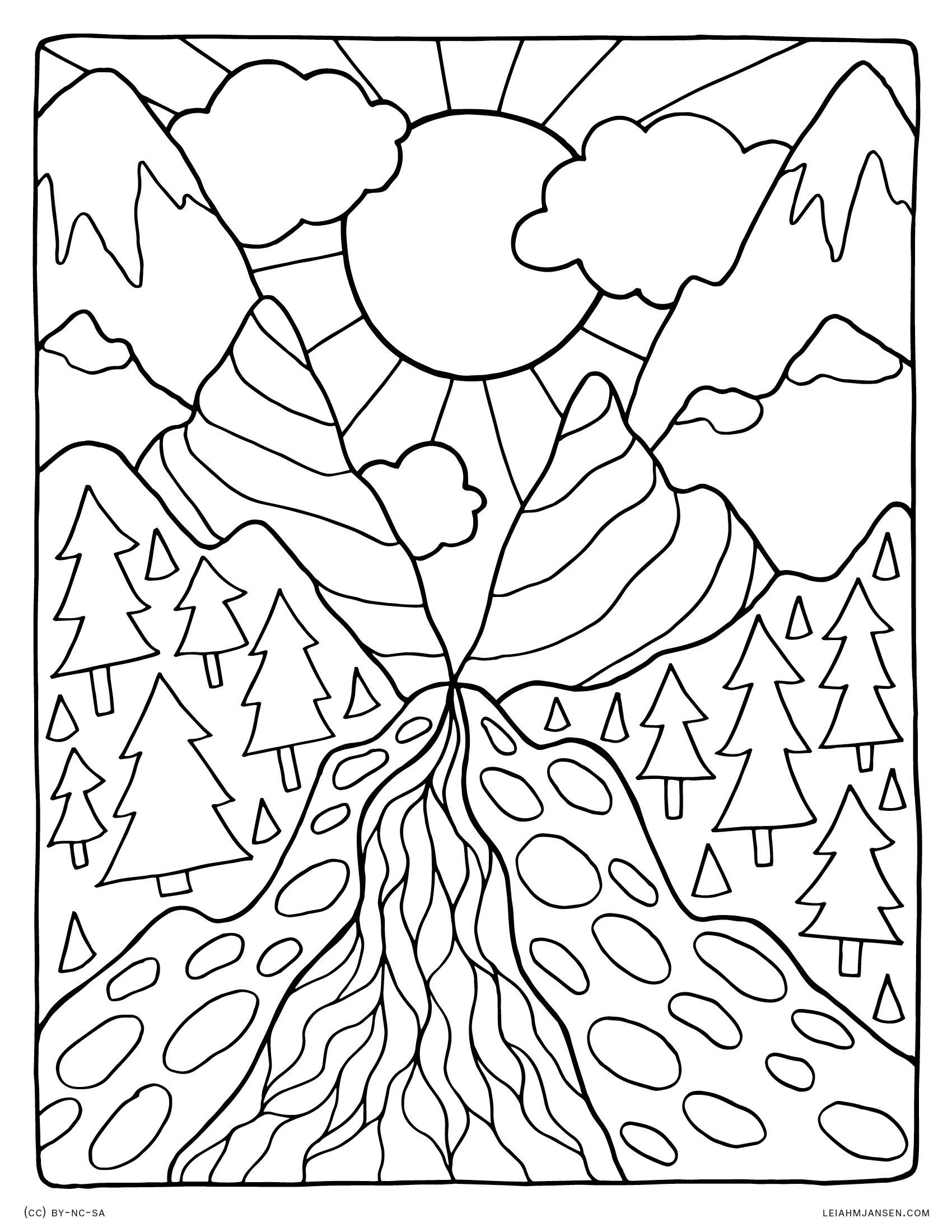mountain pictures to color mountain range coloring pages at getdrawings free download color mountain pictures to