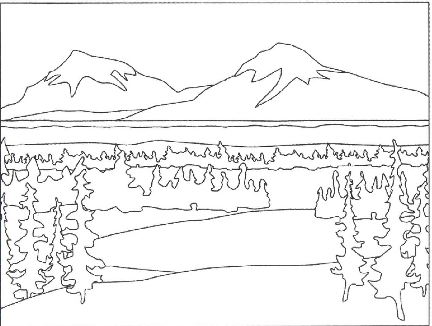 mountain pictures to color mountains coloring pages best coloring pages for kids mountain color to pictures