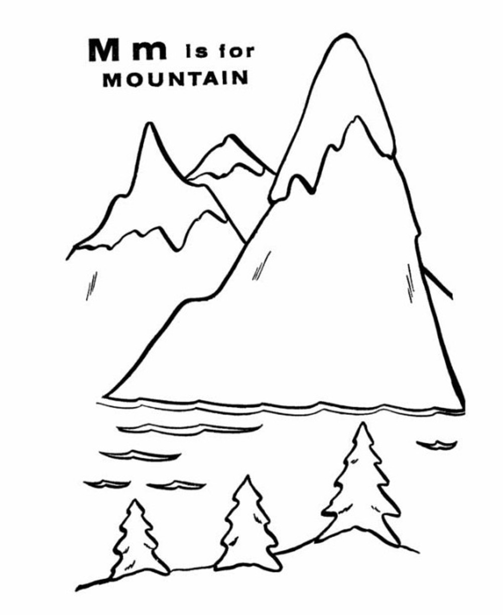 mountain pictures to color mountains coloring pages best coloring pages for kids mountain color to pictures 1 1