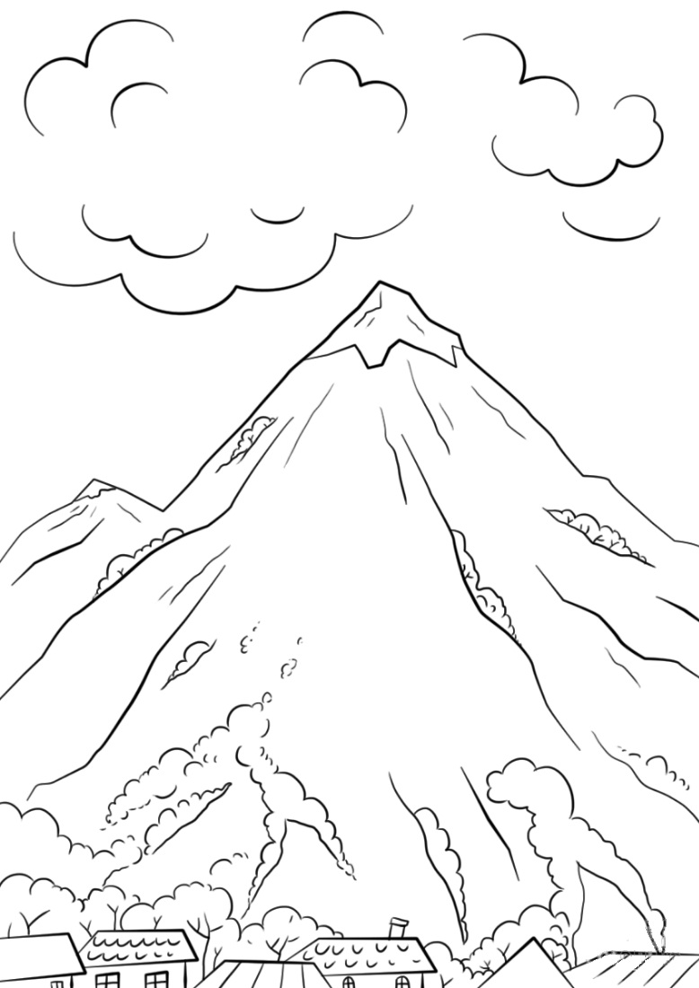 mountain pictures to color mountains coloring pages best coloring pages for kids to color pictures mountain