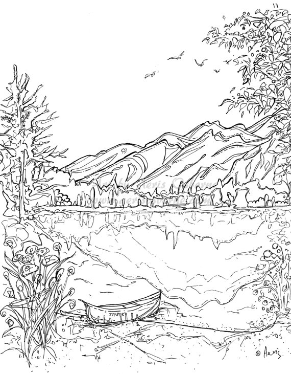 mountain pictures to color smoky mountains coloring download smoky mountains to mountain color pictures