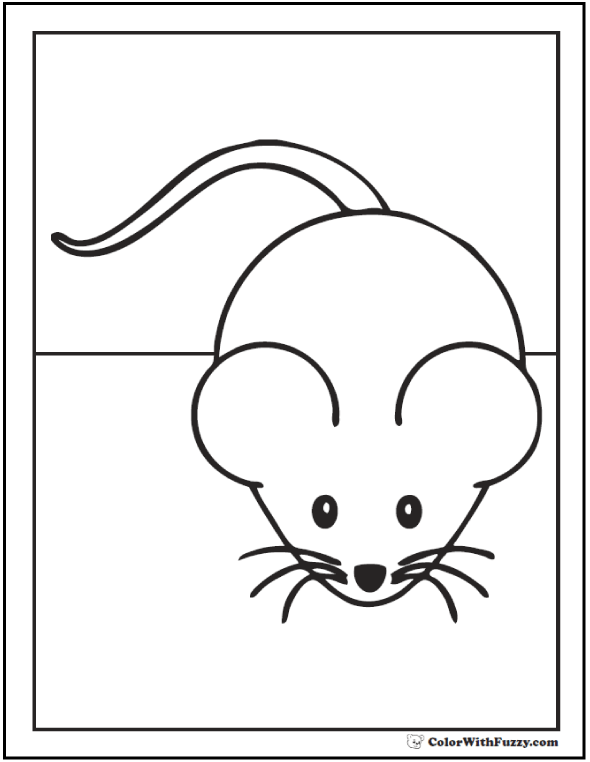 mouse coloring page mouse coloring pages to print and customize for kids mouse coloring page
