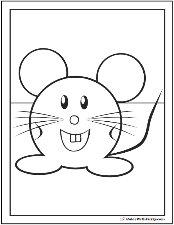 mouse coloring page mouse coloring pages to print and customize for kids page mouse coloring