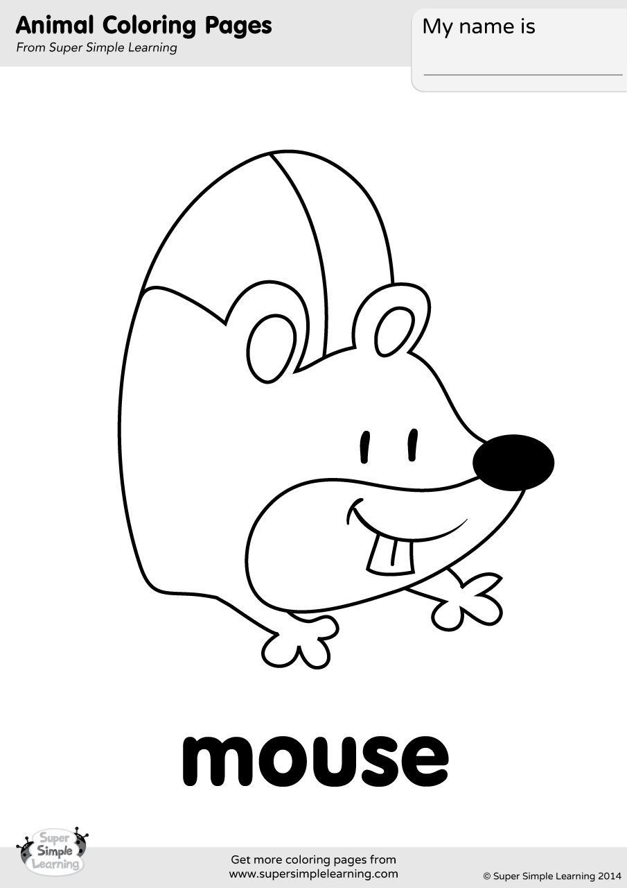 mouse colouring mouse coloring page super simple mouse colouring