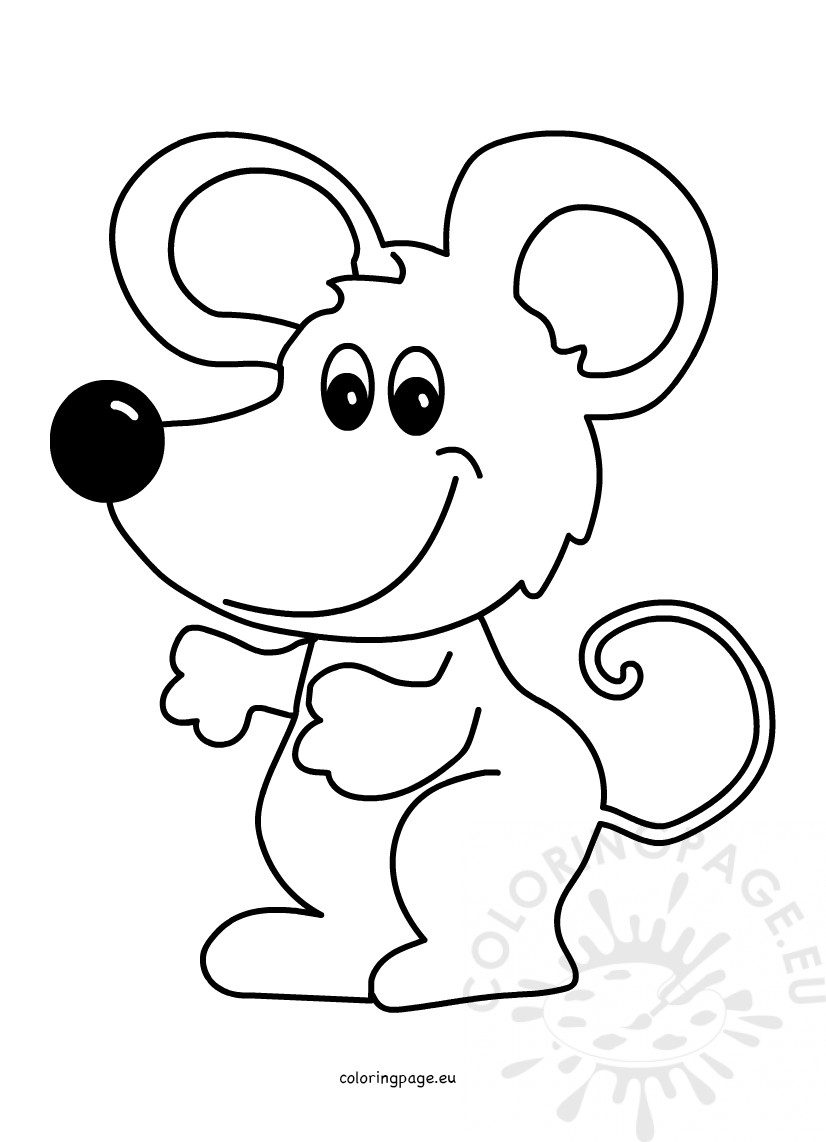 mouse colouring vector illustration cute mouse cartoon coloring page colouring mouse