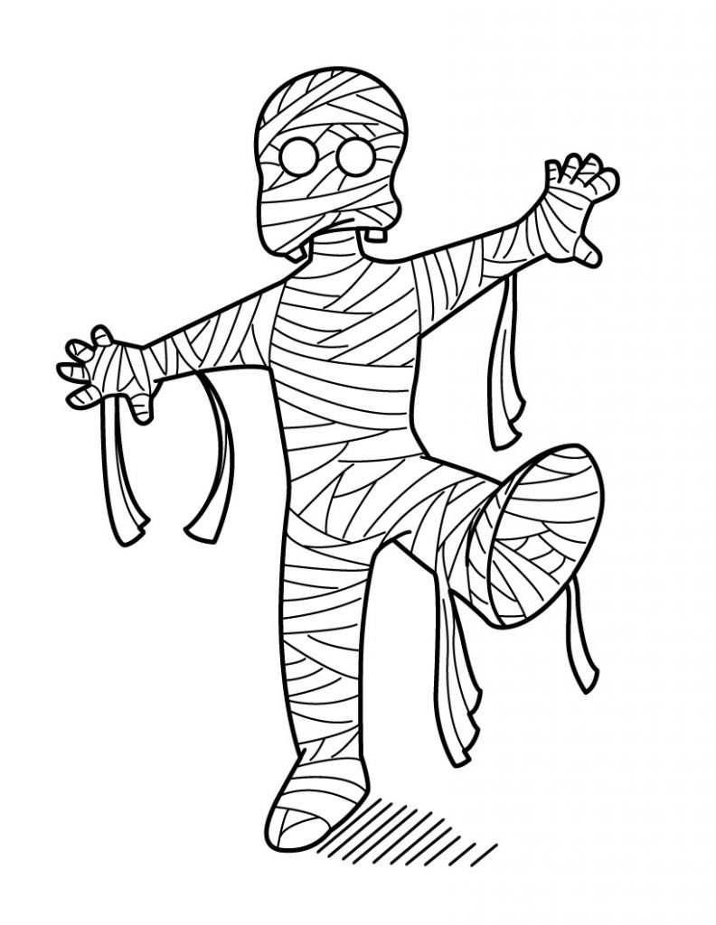 mummy coloring page mummy coloring page halloween coloring page mummy