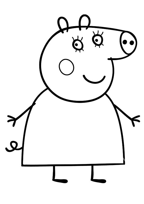 mummy pig coloring page george pig daddy pig mummy pig coloring book pig pig mummy coloring page