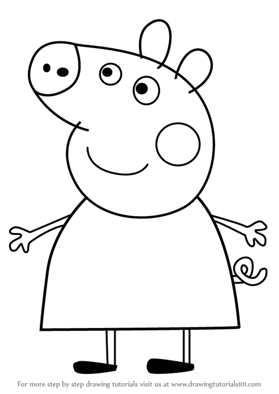 mummy pig coloring page learn how to draw mummy pig from peppa pig peppa pig pig mummy coloring page