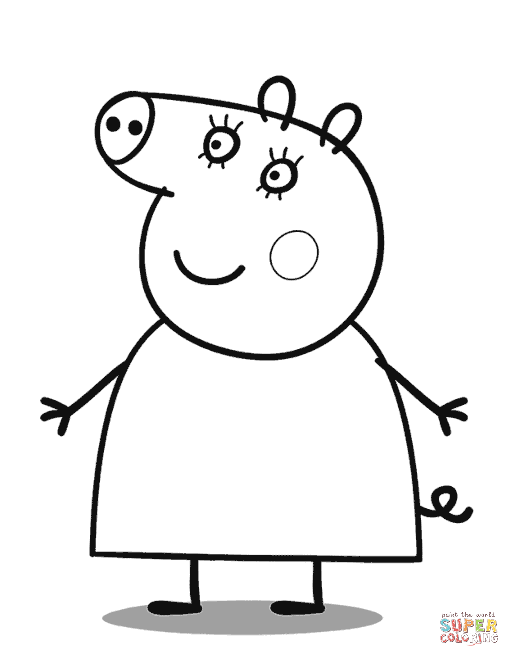 mummy pig coloring page mummy pig colouring pages food ideas page pig coloring mummy