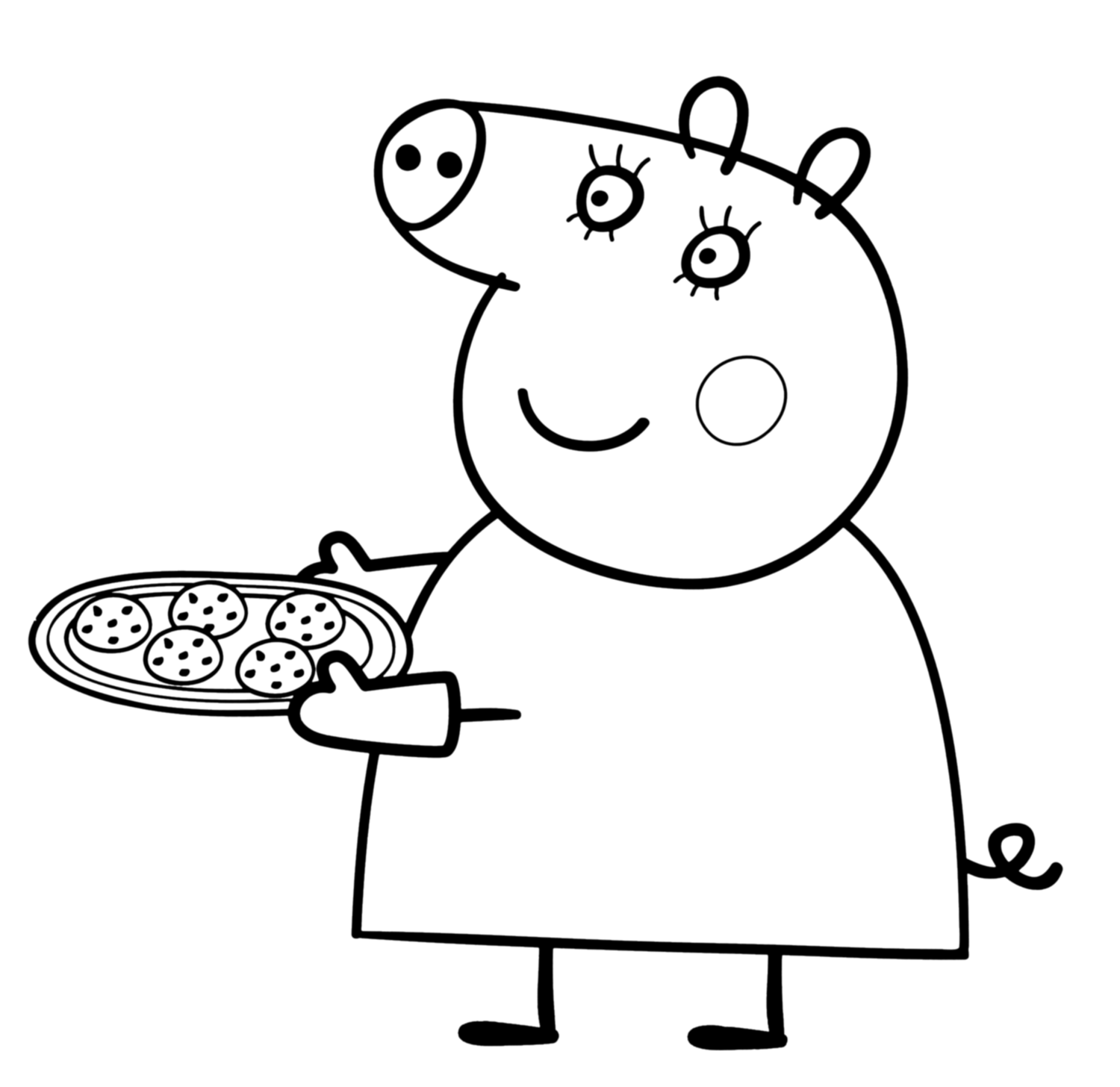 mummy pig coloring page mummy pig in winter suit coloring page free printable pig page coloring mummy