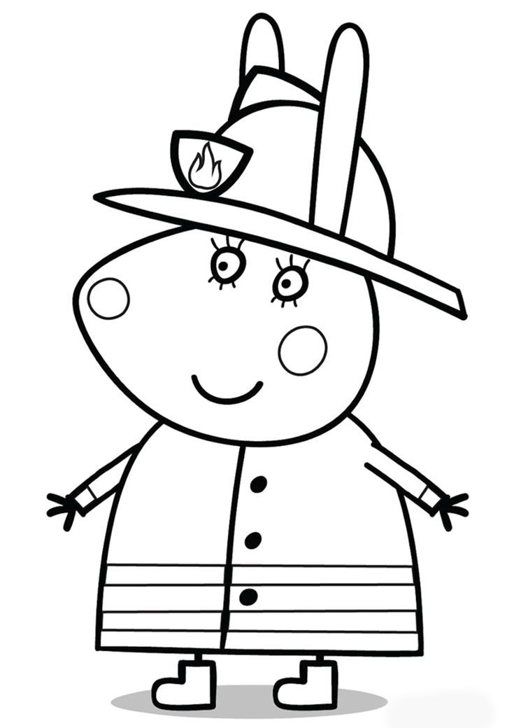 mummy pig coloring page mummy rabbit in fire uniform peppa pig coloring pages pig page coloring mummy