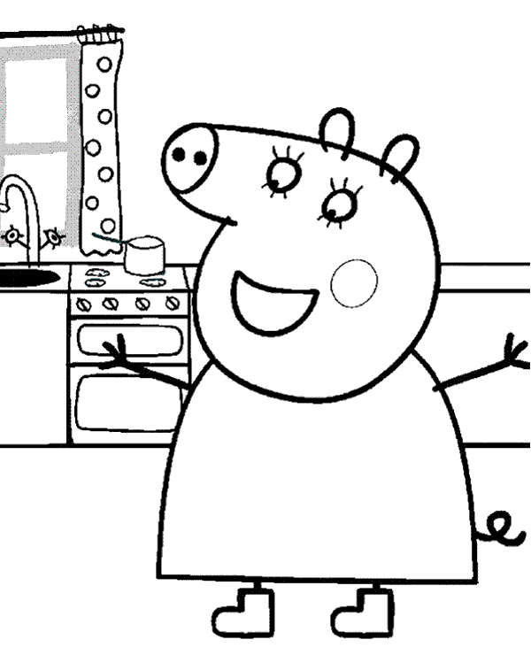 mummy pig coloring page peppa colouring pages 28 topcoloringpagesnet coloring page mummy pig