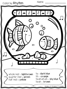 music note coloring pages pdf music notes color by rhythm ta titi rest ta a tpt pdf coloring music note pages